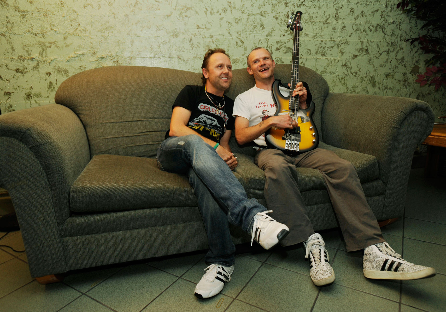 Lars and Flea Backstage
